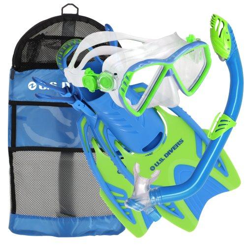シュノーケリング マリンスポーツ 240490 U.S. Divers Junior Regal Mask, Trigger Fins and Laguna Snorkel Combo Set, Fun Blue, Large/X-Largeシュノーケリング マリンスポーツ 240490