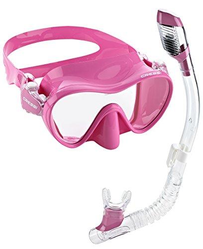 シュノーケリング マリンスポーツ LEPUSPTLSHI4993 【送料無料】Cressi Junior Frameless Mask Dry Snorkel Set, Pinkシュノーケリング マリンスポーツ LEPUSPTLSHI4993