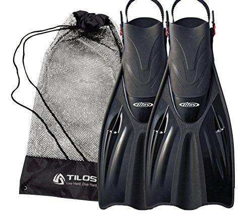 シュノーケリング マリンスポーツ Tilos Getaway Snorkeling Fins Open Heel Fins (Black, S/M (4.5-8.5))シュノーケリング マリンスポーツ