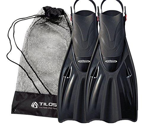 シュノーケリング マリンスポーツ Tilos Getaway Snorkeling Fins Open Heel Fins (Black, ML/XL (9-13))シュノーケリング マリンスポーツ