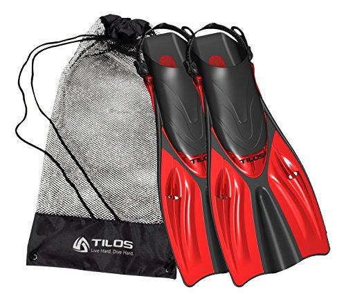 シュノーケリング マリンスポーツ Tilos Getaway Snorkeling Fins Open Heel Fins (Red, ML/XL (9-13))シュノーケリング マリンスポーツ