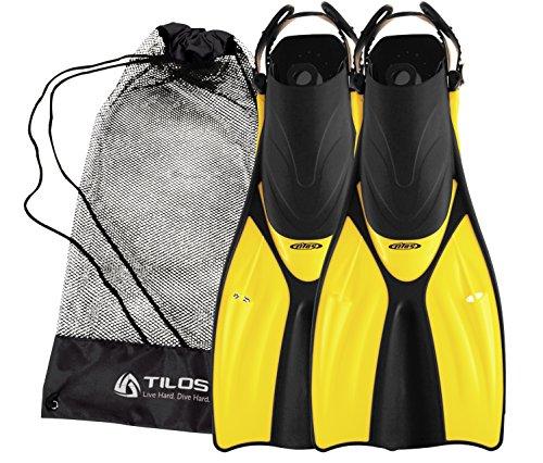 シュノーケリング マリンスポーツ Tilos Getaway Snorkeling Fins Open Heel Fins (Yellow, S/M (4.5-8.5))シュノーケリング マリンスポーツ
