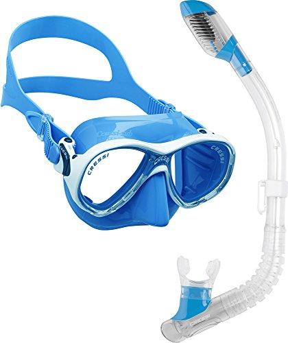 シュノーケリング マリンスポーツ DM1000078 Cressi Marea Jr (Colorama edition) & Mini Dry, blueシュノーケリング マリンスポーツ DM1000078