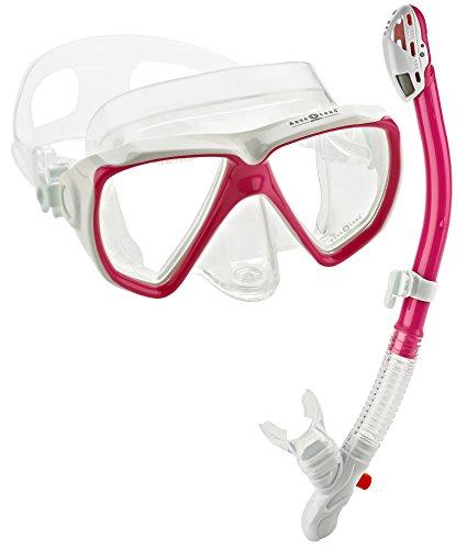 シュノーケリング マリンスポーツ 【送料無料】Aqua Lung Sport Win Purge Mask Ultra Dry Snorkel Setシュノーケリング マリンスポーツ