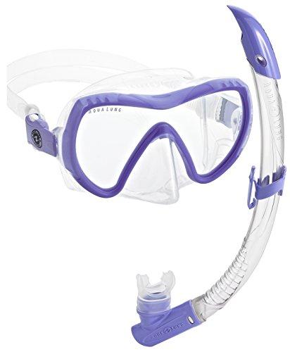 シュノーケリング マリンスポーツ 111440 Aqua Lung Vision Flex Mask Snorkel Combo, Lilacシュノーケリング マリンスポーツ 111440