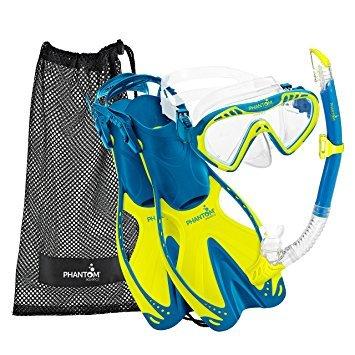 シュノーケリング マリンスポーツ PAQSJMFS LM-LG 【送料無料】Phantom Aquatics Speed Sport Junior Mask Fin Snorkel Set, Lime, Largeシュノーケリング マリンスポーツ PAQSJMFS LM-LG