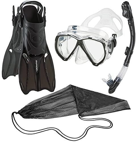 シュノーケリング マリンスポーツ PAQPMFS BK-SM 【送料無料】Phantom Aquatics Legendary Mask Fin Snorkel Set with Mesh Bagシュノーケリング マリンスポーツ PAQPMFS BK-SM