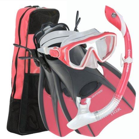 シュノーケリング マリンスポーツ 261234 U.S. Divers Diva 1 LX/Island Dry LX/Trek/Travel Bag Combo, Coral, Small (5-8)シュノーケリング マリンスポーツ 261234