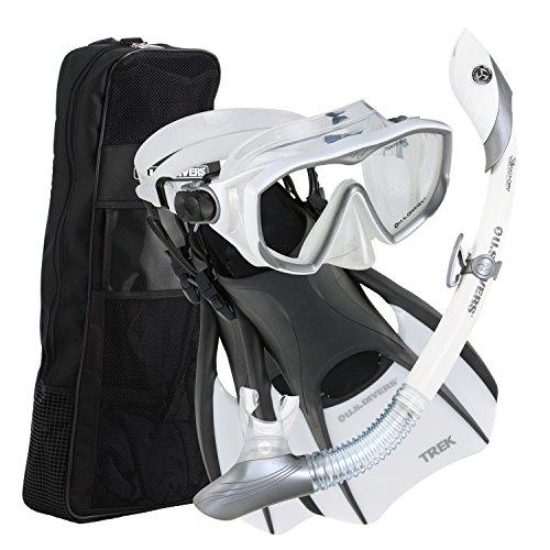 シュノーケリング マリンスポーツ U.S. Divers Diva 1 Lx / Island Dry Lx/ Trek / Travel Bag Now With New and Improved Snorkel Clip, White, Small (Ladies 5-8)シュノーケリング マリンスポーツ