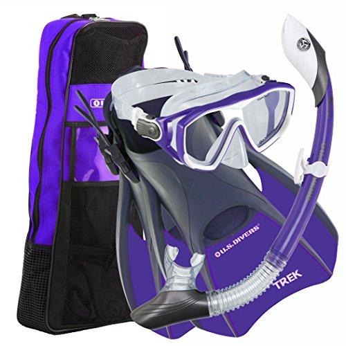 シュノーケリング マリンスポーツ 261233 U.S. Divers Diva 1 LX/Island Dry LX/Trek/Travel Bag Combo, Purple, Medium (8-11)シュノーケリング マリンスポーツ 261233