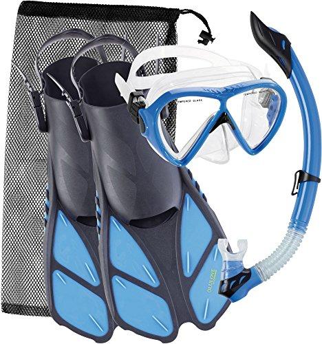 シュノーケリング マリンスポーツ UST010102B Cressi Bonete Adult Set, blue, S/Mシュノーケリング マリンスポーツ UST010102B