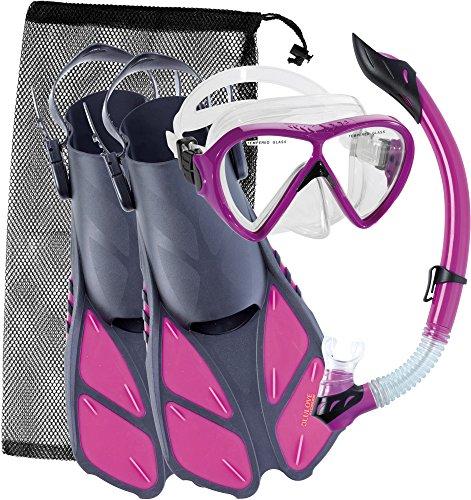 シュノーケリング マリンスポーツ UST010202P Cressi Bonete Set, purple, S/Mシュノーケリング マリンスポーツ UST010202P