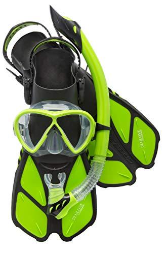 シュノーケリング マリンスポーツ LEPUSHPDJ6307 Cressi Bonete Bag Light Weight Travel Fun Snorkeling Set, Lime Green, Large/X-Largeシュノーケリング マリンスポーツ LEPUSHPDJ6307