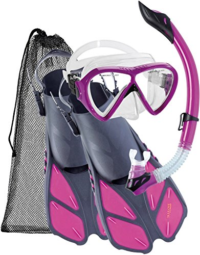 シュノーケリング マリンスポーツ UST010204P Cressi Bonete Adult Set, purple, L/XLシュノーケリング マリンスポーツ UST010204P