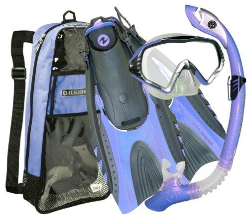 シュノーケリング マリンスポーツ U.S. Divers Adult Starbuck II Purge LX Mask/Paradise Dry LX Snorkel/Hingeflex...シュノーケリング マリンスポーツ