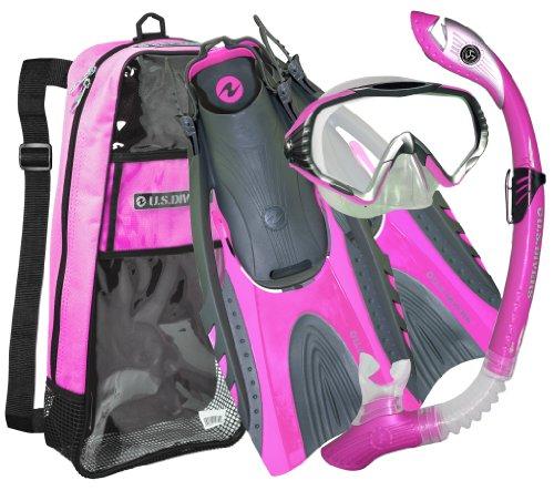 シュノーケリング マリンスポーツ 279940 U.S. Divers Adult Starbuck II Purge LX Mask/Paradise Dry LX Snorkel/Hingeflex II Fins/Pro Bag,Medium Large / Large (Women 10-13)シュノーケリング マリンスポーツ 279940