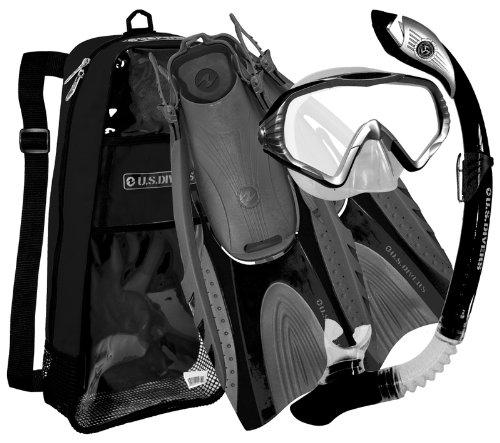 シュノーケリング マリンスポーツ 279930 U.S. Divers Adult Starbuck II Purge LX Mask/Paradise Dry LX Snorkel/Hingeflex II Fins/Pro Bag ,Large / X Large (Men 9-13, Women 10-14)シュノーケリング マリンスポーツ 279930