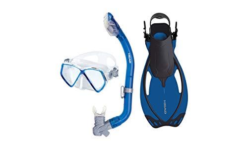 シュノーケリング マリンスポーツ HEAD by Mares Pirate Junior Mask, Snorkel and Fins Set (Pink, Large / X-Large)シュノーケリング マリンスポーツ