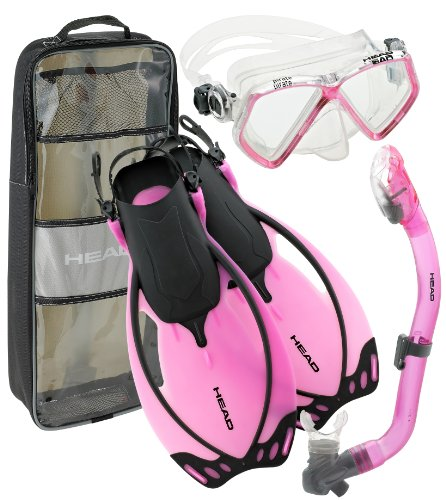 シュノーケリング マリンスポーツ 夏のアクティビティ特集 Head by Mares Junior Mask Fin Snorkel Set, with Snorkeling Backpack (Pink, Large-Youth (1-4))シュノーケリング マリンスポーツ 夏のアクティビティ特集