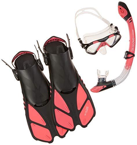 シュノーケリング マリンスポーツ Cressi BNTMFSS RD-LG Adjustable Mask Fin Snorkel Set with Carry Bag, Size 9 to 13, Raspberryシュノーケリング マリンスポーツ