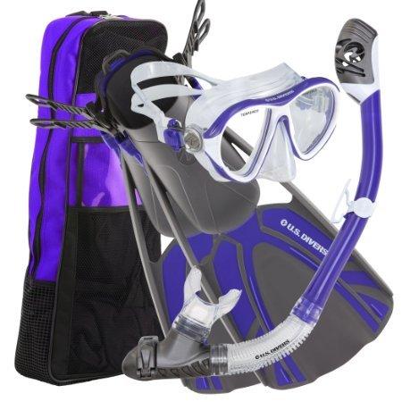 シュノーケリング マリンスポーツ 261221 U.S. Divers Azul LX Tucson Tulum Snorkel Set, Purple, Small/Medium (4-8.5)シュノーケリング マリンスポーツ 261221