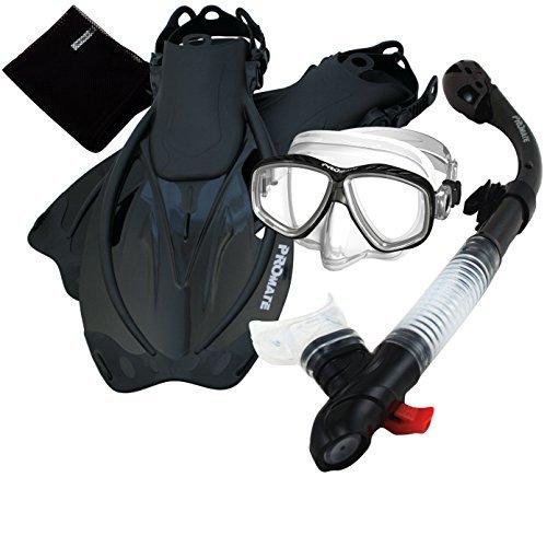 シュノーケリング マリンスポーツ 285890-Bk-SM, Snorkeling PURGE Mask Dry Snorkel Fins Mesh Bag Setシュノーケリング マリンスポーツ