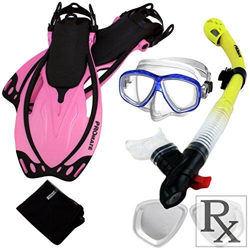シュノーケリング マリンスポーツ 285890-RxLens-SM, Scuba Fins Dry Snorkel Purge Prescription Mask Snorkeling Setシュノーケリング マリンスポーツ