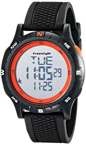 腕時計 フリースタイル メンズ 夏の腕時計特集 10017007 【送料無料】Freestyle Unisex 10017007 Navigator Digital Black Watch with Orange Accents腕時計 フリースタイル メンズ 夏の腕時計特集 10017007