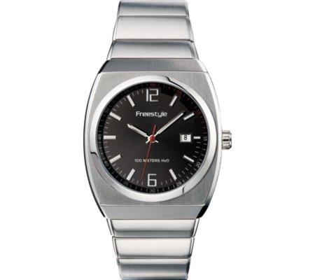 腕時計 フリースタイル メンズ 夏の腕時計特集 FS70701 【送料無料】Freestyle Men's FS70701 Triton Black Dial Stainless Steel Bracelet Watch腕時計 フリースタイル メンズ 夏の腕時計特集 FS70701