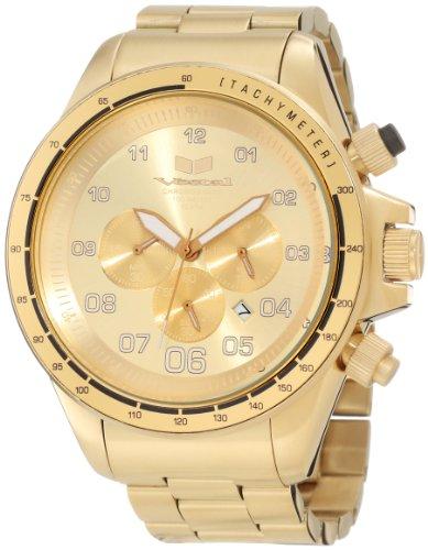 ベスタル ヴェスタル 腕時計 メンズ ZR3020 【送料無料】Vestal Men's ZR3020 ZR-3 Brushed Gold Chronograph Watchベスタル ヴェスタル 腕時計 メンズ ZR3020