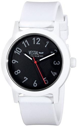 ベスタル ヴェスタル 腕時計 メンズ ALP3P01 【送料無料】Vestal Men's ALP3P01 Alpha Bravo Plastic Analog Display Japanese Quartz White Watchベスタル ヴェスタル 腕時計 メンズ ALP3P01