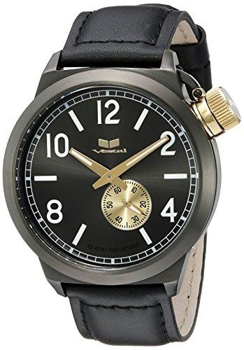 ベスタル ヴェスタル 腕時計 メンズ CTN3L14 Vestal Unisex CTN3L14 Canteen Leather Analog Display Quartz Black Watchベスタル ヴェスタル 腕時計 メンズ CTN3L14