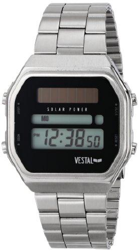 ベスタル ヴェスタル 腕時計 メンズ SYNDM02 【送料無料】Vestal Men's SYNDM02 Syncratic Solar Power Digital Display Japanese Quartz Silver Watchベスタル ヴェスタル 腕時計 メンズ SYNDM02