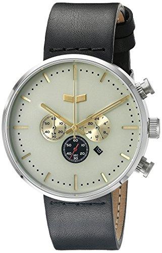 ベスタル ヴェスタル 腕時計 メンズ RSTCL01 Vestal Unisex RSTCL01 Roosevelt Chrono Stainless Steel Watch with Black Leather Bandベスタル ヴェスタル 腕時計 メンズ RSTCL01
