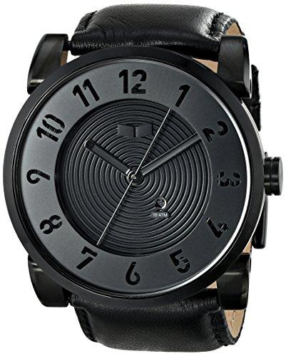 ベスタル ヴェスタル 腕時計 メンズ DOP003 【送料無料】Vestal Men's DOP003 Doppler Oversized Matte Black Ion-Plated Case Black Leather Watchベスタル ヴェスタル 腕時計 メンズ DOP003