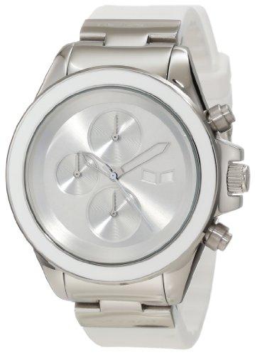 ベスタル ヴェスタル 腕時計 メンズ ZR2CS03 Vestal Unisex ZR2CS03 ZR-2 Rubber Silver White Minimalist Chronograph Watchベスタル ヴェスタル 腕時計 メンズ ZR2CS03