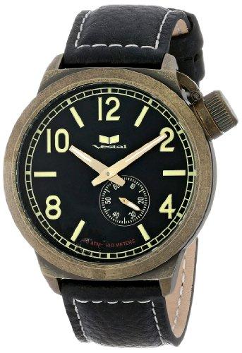 ベスタル ヴェスタル 腕時計 メンズ CTN3L07 【送料無料】Vestal Unisex CTN3L07 Canteen Black and Antique Gold Watchベスタル ヴェスタル 腕時計 メンズ CTN3L07