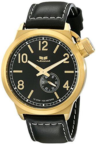 ベスタル ヴェスタル 腕時計 メンズ CTN3L13 Vestal Unisex CTN3L13 Canteen Leather Analog Display Analog Quartz Black Watchベスタル ヴェスタル 腕時計 メンズ CTN3L13