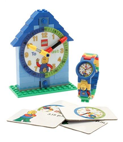 レゴ LEGO 腕時計 キッズ 子供 9005008 LEGO Time Teacher 9005008 Blue Kids Minifigure Link Buildable Watch, Constructible Clock and Activity Cards | Blue/Green | Plastic | 25mm case Diameter| Analog Quartz | boy Girレゴ LEGO 腕時計 キッズ 子供 9005008