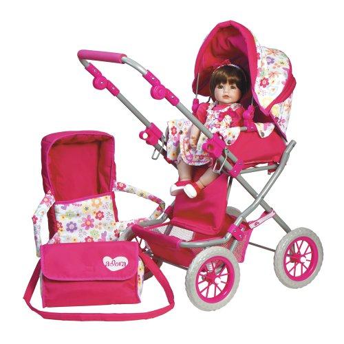 アドラベビードール 赤ちゃん リアル 本物そっくり おままごと 20603001 Adora Doll Accessories Adjustable Handle Deluxe Toy Play Stroller with Free Diaper & Carriage Bag for Kids 3 Yearsアドラベビードール 赤ちゃん リアル 本物そっくり おままごと 20603001