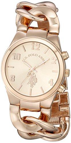 ユーエスポロアッスン 腕時計 レディース USC40070 【送料無料】U.S. Polo Assn. Women's USC40070 Rose Gold-Tone Watch with Link Braceletユーエスポロアッスン 腕時計 レディース USC40070