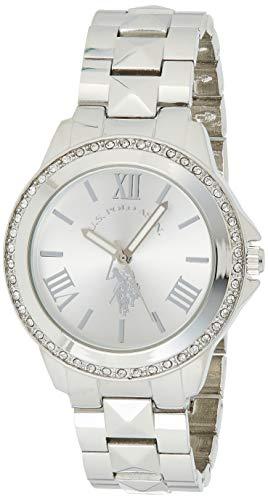 ユーエスポロアッスン 腕時計 レディース USC40081 【送料無料】U.S. Polo Assn. Women's USC40081 Rhinestone-Accented Silver-Tone Watchユーエスポロアッスン 腕時計 レディース USC40081