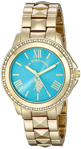腕時計 ユーエスポロアッスン レディース USC40076 【送料無料】U.S. Polo Assn. Women's USC40076 Analog Display Analog Quartz Gold Watch腕時計 ユーエスポロアッスン レディース USC40076