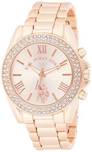ユーエスポロアッスン 腕時計 レディース USC40037 【送料無料】U.S. Polo Assn. Women's USC40037 Rose Gold-Tone Watch with Crystalsユーエスポロアッスン 腕時計 レディース USC40037