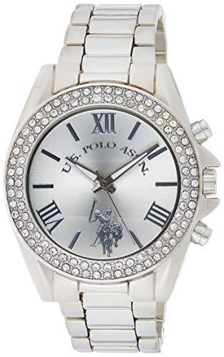 腕時計 ユーエスポロアッスン レディース USC40035 【送料無料】U.S. Polo Assn. Women's USC40035 Rhinestone-Accented Silver-Tone Watch腕時計 ユーエスポロアッスン レディース USC40035