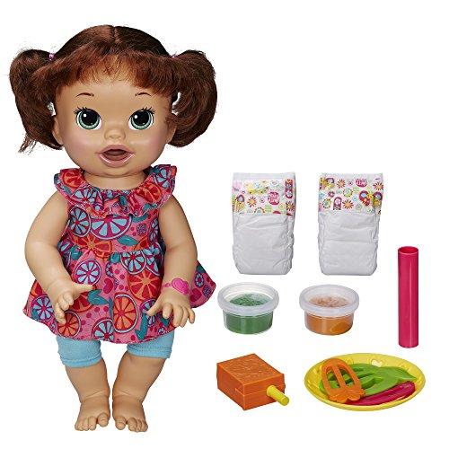 喋る・モグモグ食べる・オムツ替えができるお人形★ベビーアライブ スーパースナックスナッキン サラ ブルネット