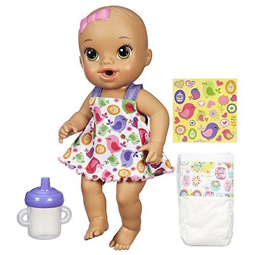 ベビーアライブ 赤ちゃん おままごと ベビー人形 A9294221 Baby Alive Sips 'n Cuddles Brunette, Modern Outfitベビーアライブ 赤ちゃん おままごと ベビー人形 A9294221