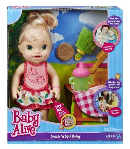 ベビーアライブ 赤ちゃん おままごと ベビー人形 A7194 Baby Alive Snack 'n Spill Baby [Blonde]ベビーアライブ 赤ちゃん おままごと ベビー人形 A7194