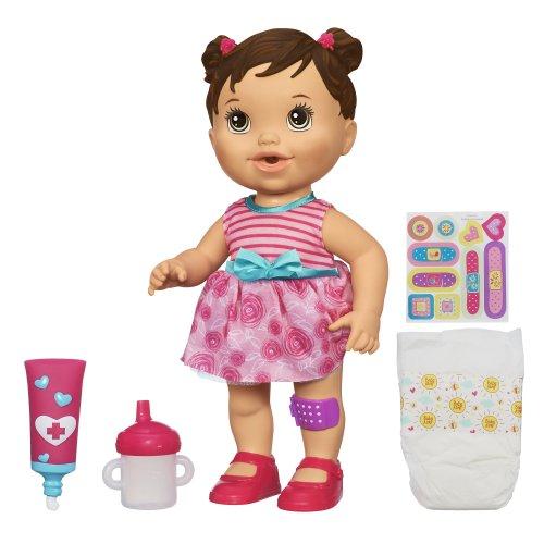 ベビーアライブ 赤ちゃん おままごと ベビー人形 A5392 Baby Alive Baby Gets a Boo Boo Doll - Brunetteベビーアライブ 赤ちゃん おままごと ベビー人形 A5392
