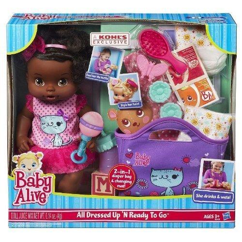ベビーアライブ 赤ちゃん おままごと ベビー人形 A5452 【送料無料】Baby Alive All Dressed Up N' Ready To Go Doll - African Americanベビーアライブ 赤ちゃん おままごと ベビー人形 A5452